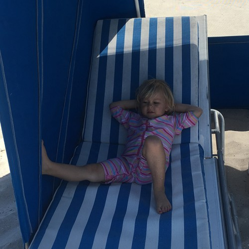 Iza Lounging In Vero Beach