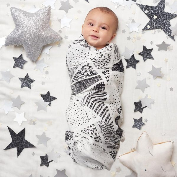 9211 3 Swaddle Muslin Silky Soft Baby Stars Icon