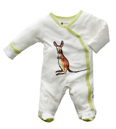 Baby Soy Janey Baby Organic Footie, 3-6M