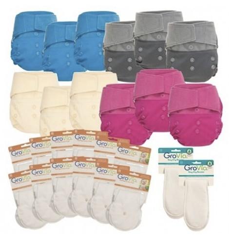 GroVia Diaper System Hybrid Live Package No Prep Starter Kit
