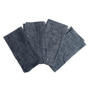 Cotton & Hemp Chambray Napkins (Set Of 4)