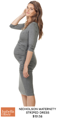 RaCo Life Maternity NICHOLSON MATERNITY STRIPED DRESS