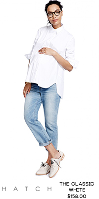 RaCo Life Maternity The Classic White Button Down Shirt Hatch