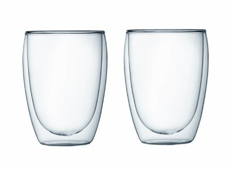 Bodum Pavina Double Wall Glass, 12-Ounce, Set Of 2