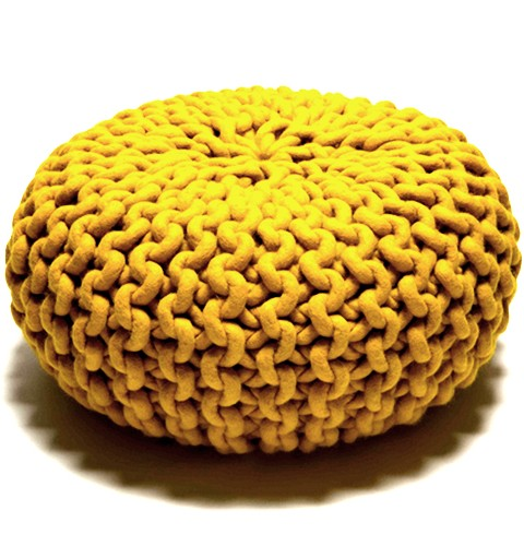 Christien Meindertsma Knitted Pouf, Yellow Sold By Darkroom London
