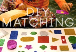 DIY Kid Project: Matching Shapes And Colors